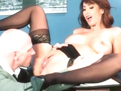 Hard Sex With Big Round Tits Nasty Office Girl (Isis Love) video-10