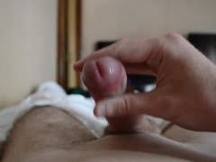 My BIG and WET Uncut Dick Blows a HUGE LOAD On My Chest