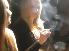 Pink Angel Smoking with Friend