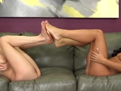 Petite Asian Morgan Lee And Spinner Elsa Jean Cum Together
