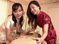 Hottest Japanese girl in Horny Threesome, CFNM JAV movie