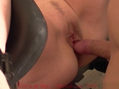 Quick Gyno Chair Fuck of the Little Sunshine MILF