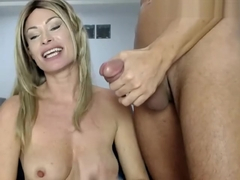 blonde milf throat fucks a thick cock xxx cam TWO