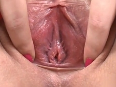 Sultry Teen Is Gaping Narrow Twat In Close Up And Cumming