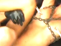 Thick cock for breathtaking honey who gets roped and blindfolded