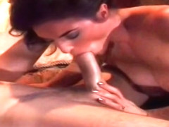 Enticing Rebecca Lord is blowing my cock