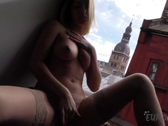 19yo Angelica Banging Herself Out In My Window With A Huge Black Dildo - EuroCoeds