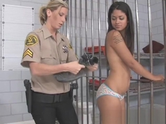 Leah James gets a cavity search