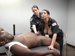 Uniform police and prisoners Milf Cops