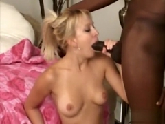 Ravishing blonde Erin Moore struggles with Byron's massive black dick