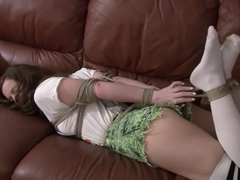 Hogtied and gagged in Knee high Socks