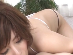 Sensual asian ririsu ayaka cums on camera