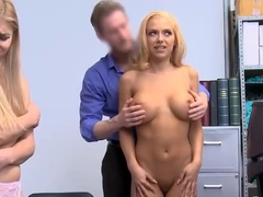 Busty MILF And Stepdaughter Fucked For Shoplifting