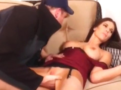 amazing busty milf having a real orgasm with thief