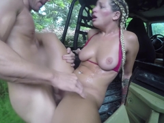 Kissa Sins and Johnny Sins Jeep Rain Fuck