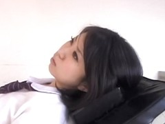 Adorable Jap gets some pussy drilling during Gyno exam