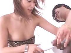 Amazing Japanese chick Anna Kaneshiro in Incredible Lingerie, Handjob JAV scene