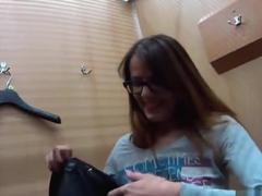 Charming czech teenie was tempted in the mall and shagged in pov