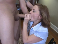 Adorable young couple Anthony Rosano and Rebecca Bardoux fuck!