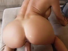 Mommy with big Tits in different poses Fucks with her stepson...