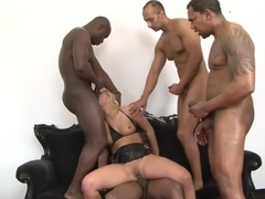 Best pornstar Linda Ray in incredible gangbang, dildos/toys adult clip