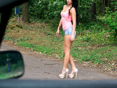 Daphne Klyde in Horny Hitchhiker's Wilderness Fuck - StrandedTeens