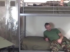 Horny soldiers fucking bareback