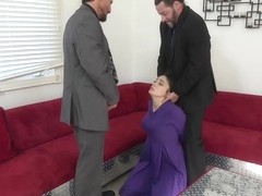 Ashly Anderson is a slutty bitch who likes to be fucked by two horny guys, at the same time