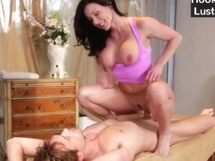 Hot Brunette Mom Kendra Lust Gives Massage To Stepson