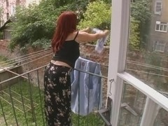 Hot Older Wife Attacked Whilst Hanging Laundry - Cireman