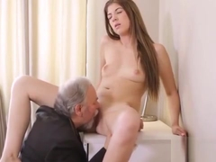Sensual College Girl Was Seduced And Nailed By Her Older Ins