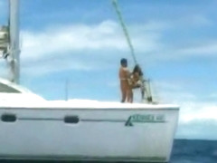 Couple Fucking on a Private Boat