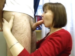 Russian amateur bj and cum swallow