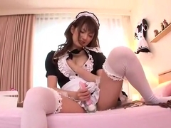 Exotic Japanese chick Tsubasa Amami in Best Stockings, Solo Female JAV video
