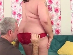 Big ass rimmed and banged curvy babe