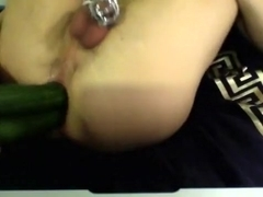 Two cucumbers in ass (pt 2)