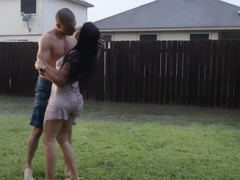 Romantic sex under a storm in Texas