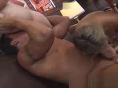 Petite Blonde Pornstar Lia Lor Blowjob and Squirting on Fan