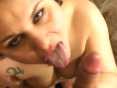 HOT BBW Sucks UNCUT Cock FACIAL