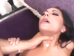 Hot Chick Takes On Big Cock In Her Mouth And Pussy