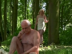 Euro swallows old man cum