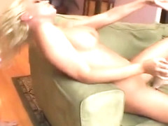 Sexy Blonde Gets Railed Out By Two Cocks