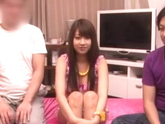 Horny Japanese whore Hitomi Kitagawa in Incredible Threesomes JAV video