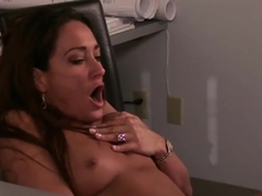 Brown boss calls her secretary to enjoy and fuck her. Michelle Lay and Elex