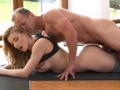 Fitnessrooms Yoga Master Teaches Young Student Sex