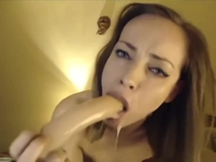 skinny whore gag fucks her throat til sloppy opens her ass for anal gape