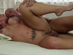 Big booty blonde gets face fucked