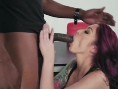 Ebony planted on cock titted tattooed slut from phone sex...