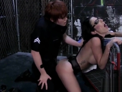 Officer Lily Cade bangs Dava Foxx