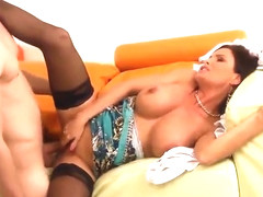 Aged female with hot love melons in hard fuck porn